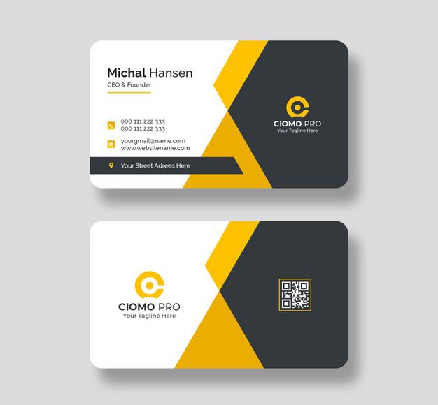 Mẫu name card với đường nét thiết kế chắc chắn